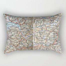 Where Italy, France & Switzerland meet, 1900 map Rectangular Pillow