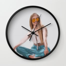 Waiting For The Sun Wall Clock