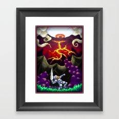 Pixel Art series 5 : The eye Framed Art Print
