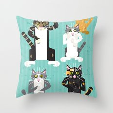 Cats I have known Throw Pillow