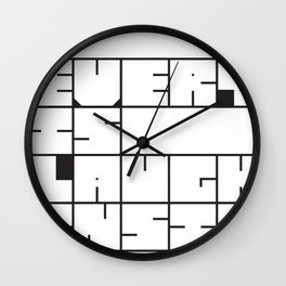 Missing - Everybody is laughing inside Wall Clock