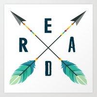 READ Arrows Print Art Print