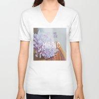 roald dahl V-neck T-shirts featuring magic..  by studiomarshallarts