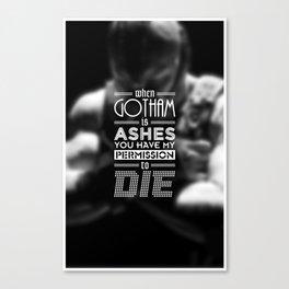 """DARK KNIGHT RISES"" - BANE - Typography Poster Canvas Print"