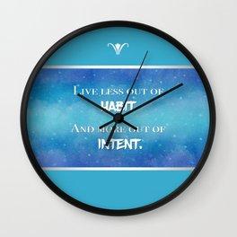 Live an Intentional Life Wall Clock