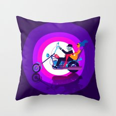 Psychedelic Mid-Life Crisis Throw Pillow