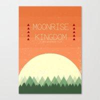 moonrise kingdom Canvas Prints featuring Moonrise Kingdom by Courtney Vlaming