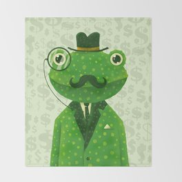 Mr. Frog Throw Blanket