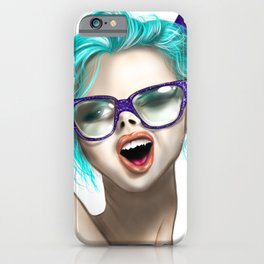 Modern girl illustration  iPhone Case