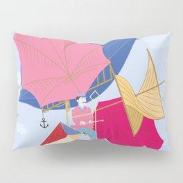 Flying Machine Air Balloon Skycycle Victorian Aircraft Pillow Sham