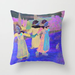 Breton Girls Dancing, Pont-Aven (1888) by Paul Gauguin Throw Pillow