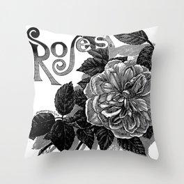 Roses 1894 Throw Pillow