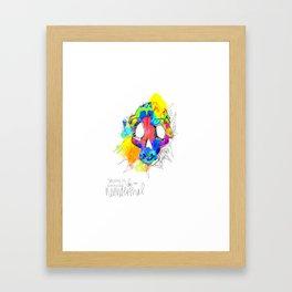 Neonderthal Skull Framed Art Print