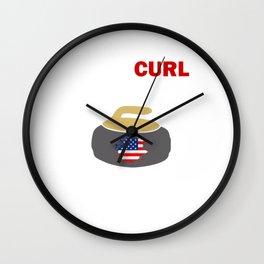 Usa Curling team Wall Clock