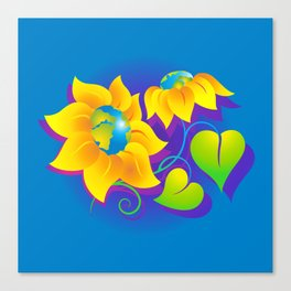 Sunflower World Canvas Print