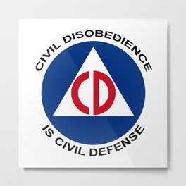 Civil Defence Metal Print