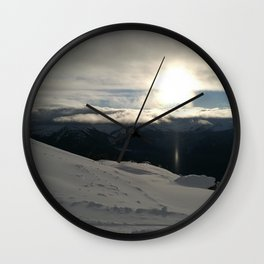 On the mountains, me and the sun, between the clouds Wall Clock