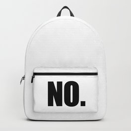 NO. Backpack