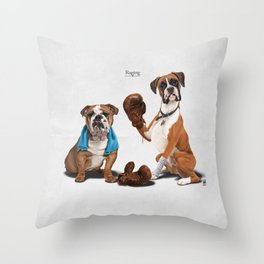 Raging Throw Pillow
