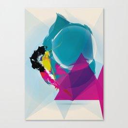 Compressed Colour Canvas Print