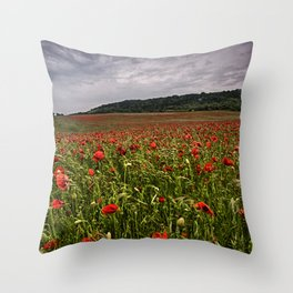 Boxley Poppy Fields Throw Pillow