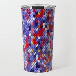 Knitted multicolor pattern 2 Travel Mug