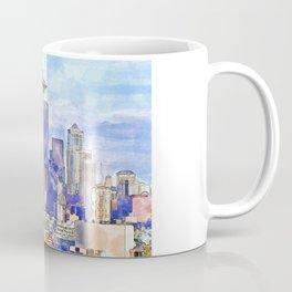 Seattle View in watercolor Coffee Mug