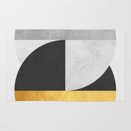Golden Geometric Art IX Rug