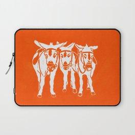 Seaside Donkeys in Orange Laptop Sleeve