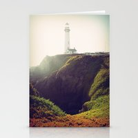 lighthouse Stationery Cards featuring Lighthouse by Yael Levey