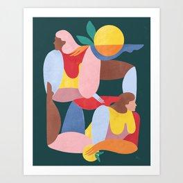 Abstract Figures V Art Print
