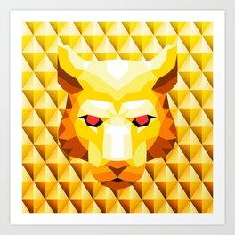 Lion Trophy Mountain Art Print