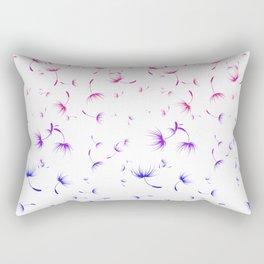 Dandelion Seeds Bisexual Pride (white background) Rectangular Pillow