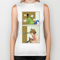 kingdom hearts Biker Tanks featuring KINGDOM HEARTS: WINNIE THE POOP   by Gianluca Floris