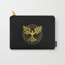 Gold Decorated Phoenix bird symbol Carry-All Pouch