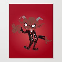 soul eater Canvas Prints featuring little demon soul eater by Rebecca McGoran