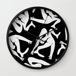 Picasso Pattern - Black and White Wall Clock