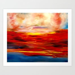 Sunset at Chesapeake Bay Art Print
