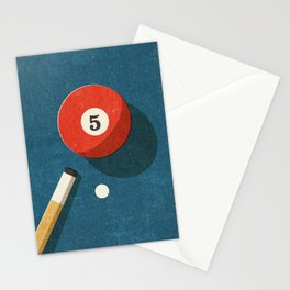 BILLIARDS / Ball 5 Stationery Cards