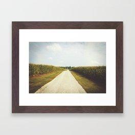 Indiana Corn Field Summers Framed Art Print