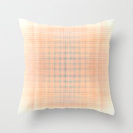 Pink and blue checked pattern Throw Pillow