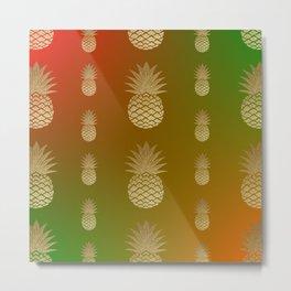 pineapple bright design Metal Print