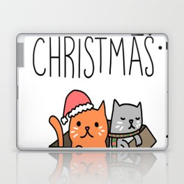 Meowy Christmas Cat Holiday Pun Laptop & iPad Skin