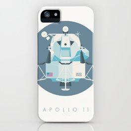 Apollo 11 Lunar Lander Module - Text Slate iPhone Case
