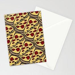 pattern pizza Stationery Cards