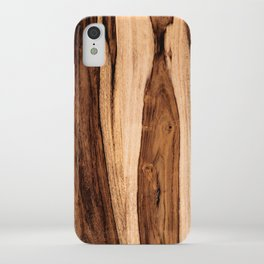 Sheesham Wood Grain Texture, Close Up iPhone Case