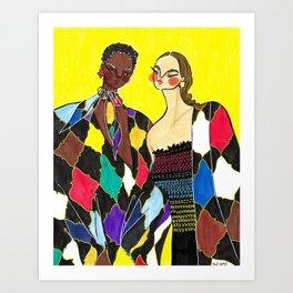 Alice + Olivia Girls – Original Fashion art, Fashion Illustration, Fashion wall art Art Print
