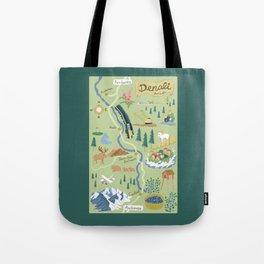Denali Borough Map Tote Bag