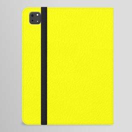 PLAIN SOLID FLUORESCENT YELLOW - NEON YELLOW  iPad Folio Case
