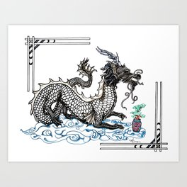 Bonsai Dragon Art Print